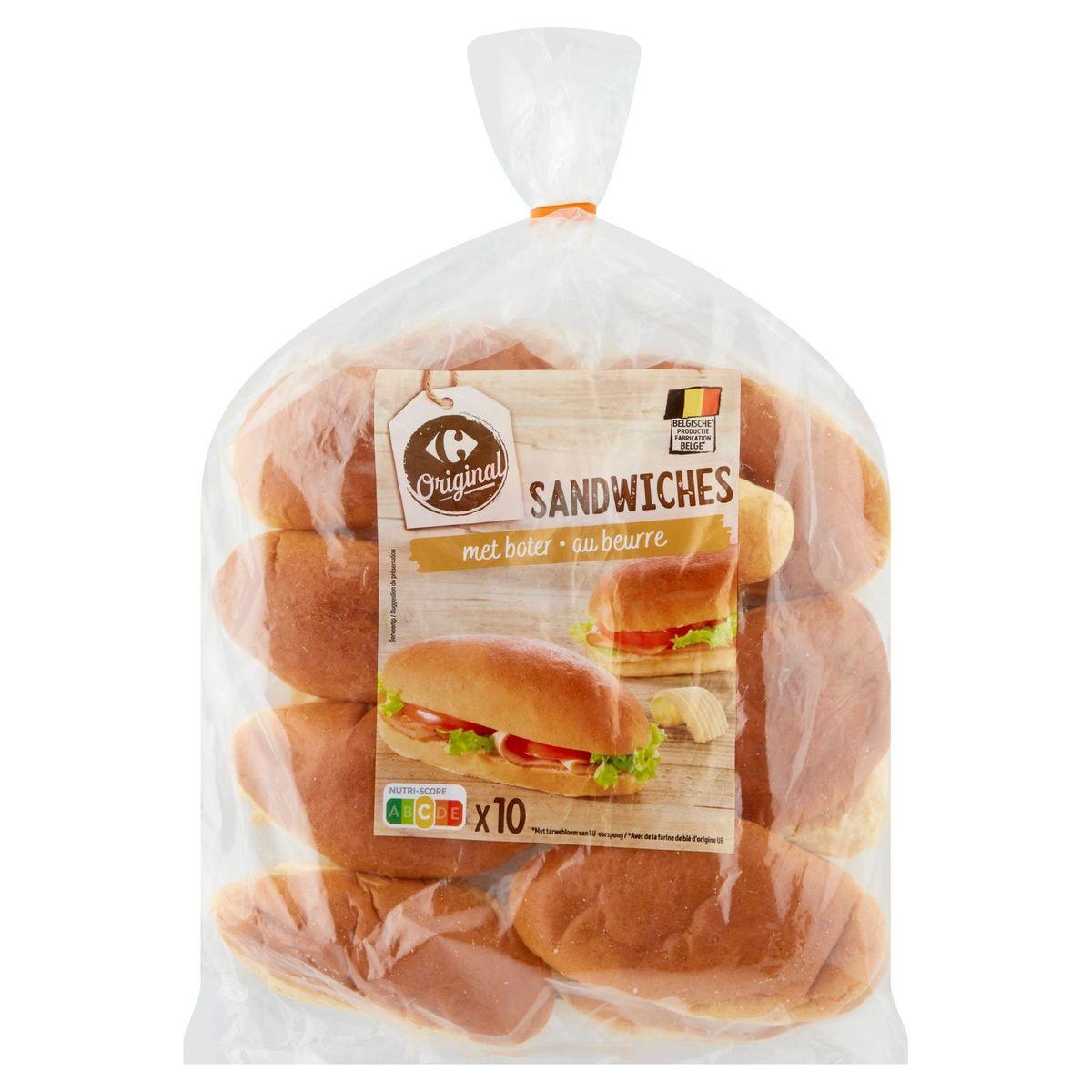Carrefour Sandwiches au Beurre 10 Pièces 450 g