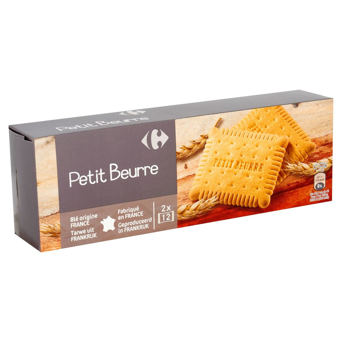 Carrefour Petit Beurre 2 x 12 Pièces 200 g