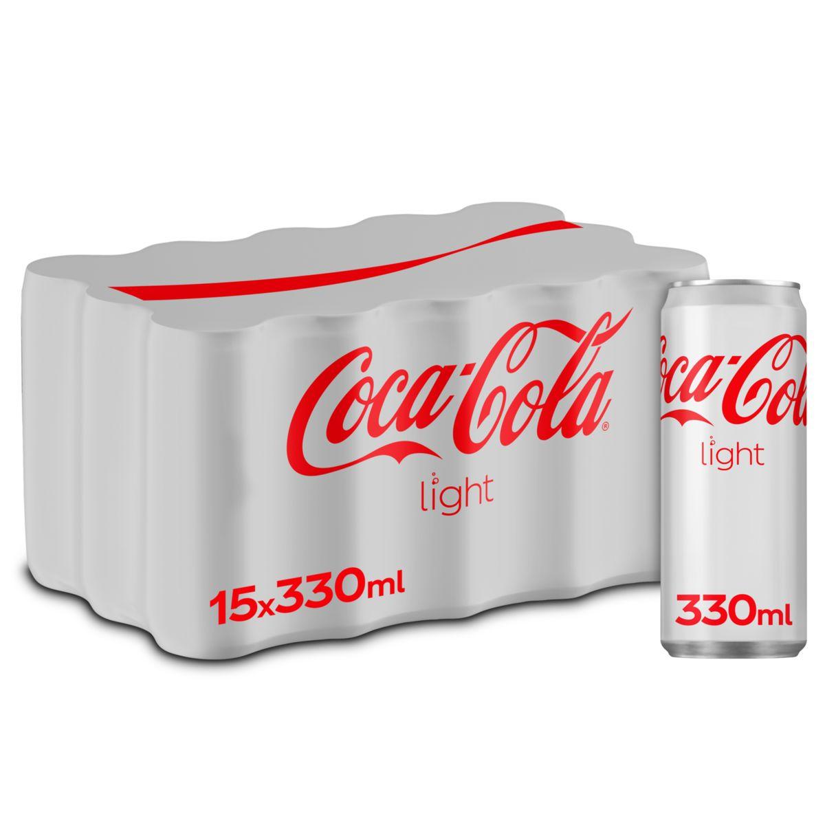 Coca-Cola Light Canette 15 x 330 ml