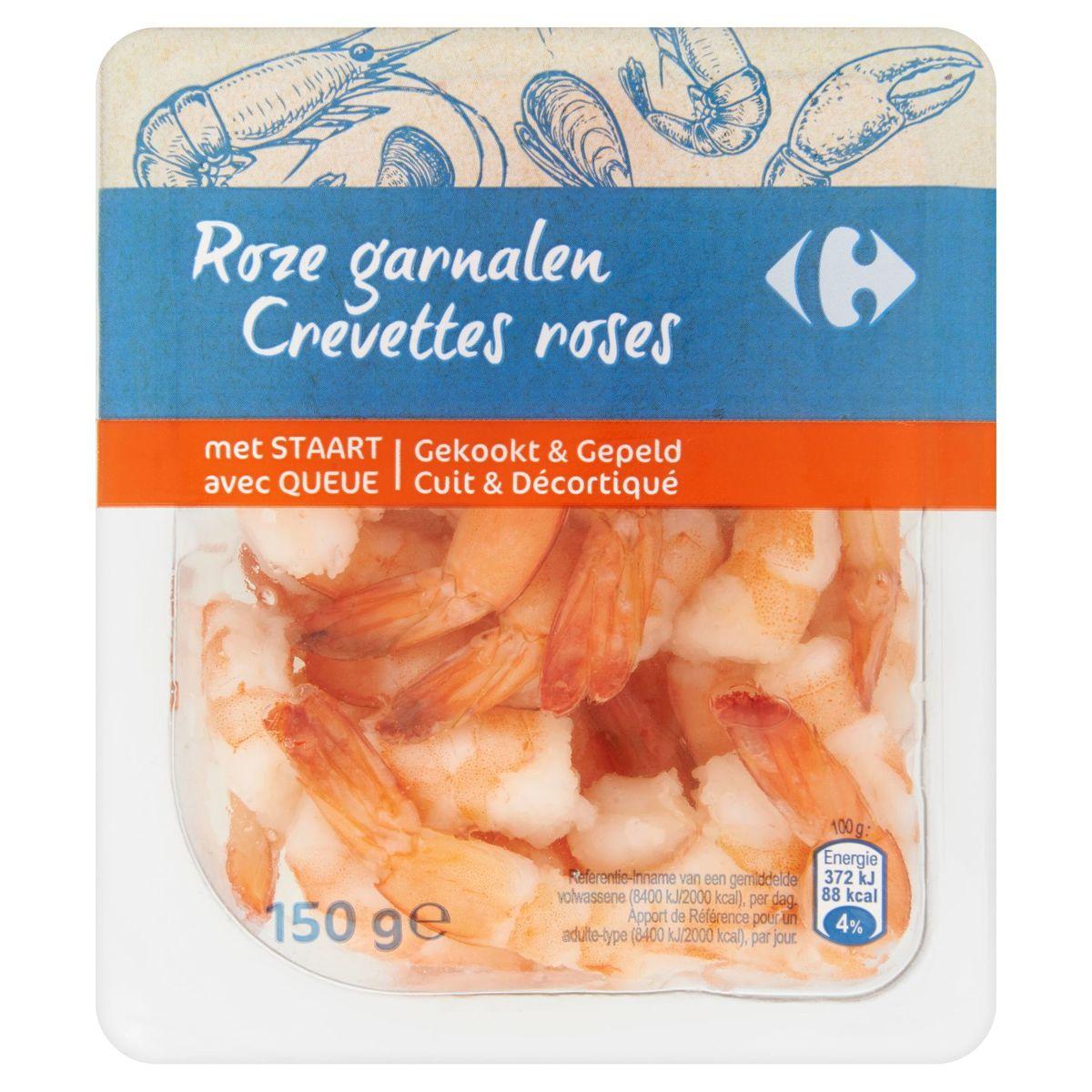 Carrefour Crevettes Roses avec Queue 150 g