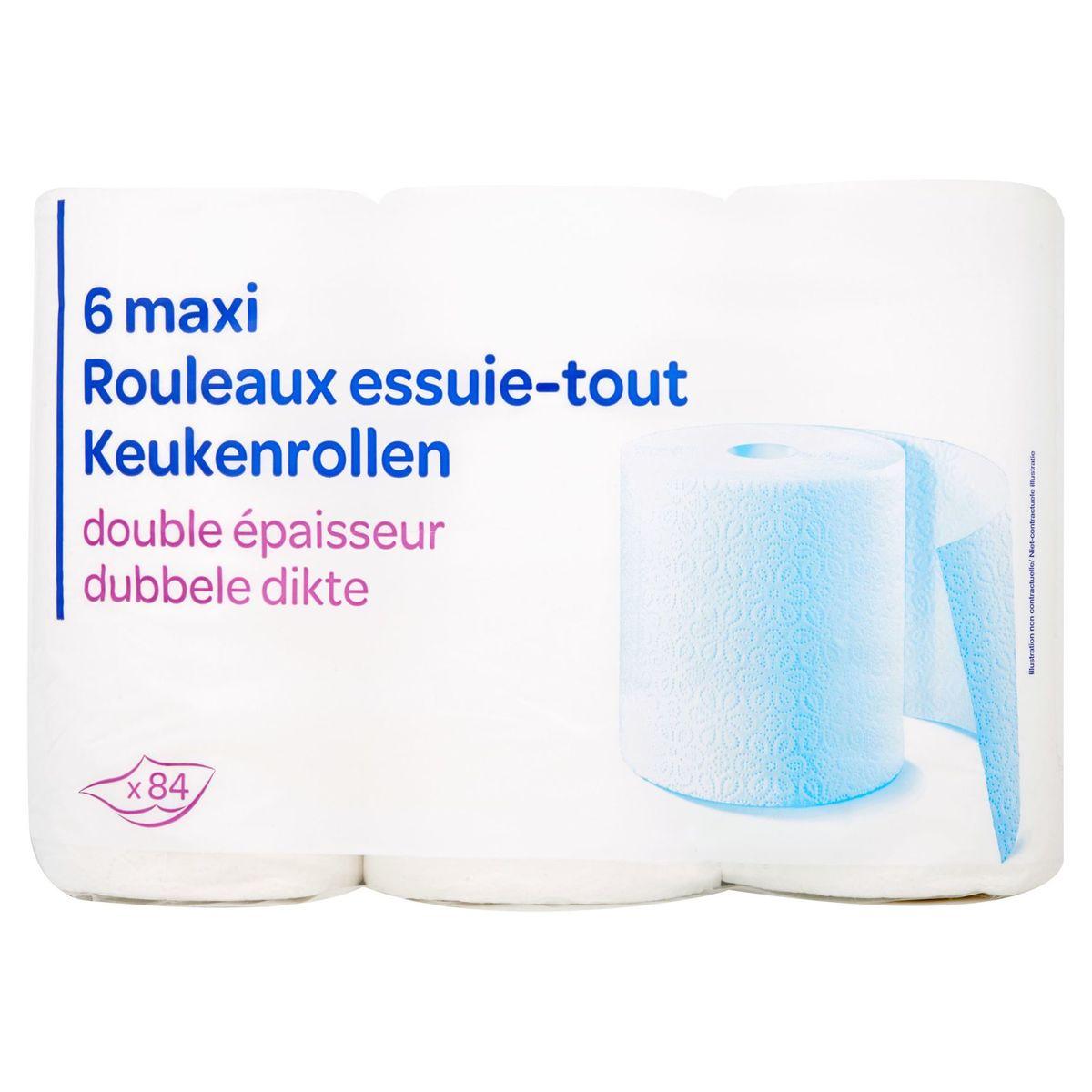 6 Maxi Rouleaux Essuie-Tout Double Épaisseur