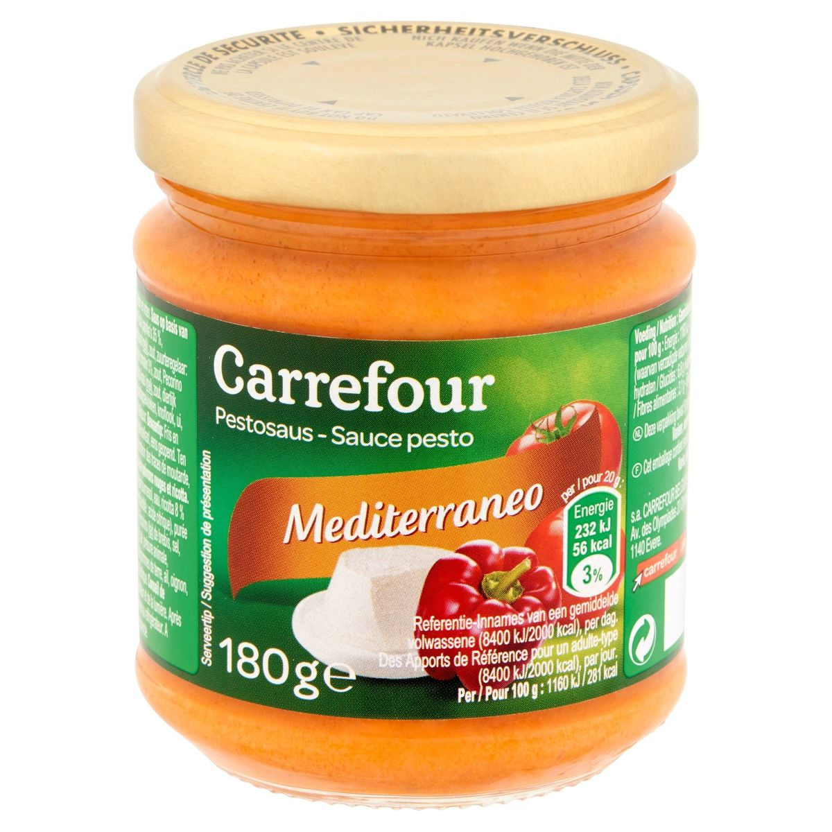 Carrefour Pestosaus Mediterraneo 180 g