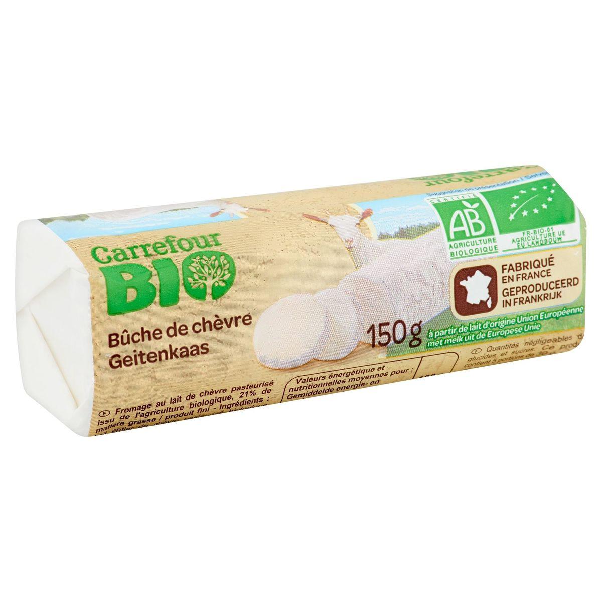 Carrefour Bio Bûche de Chèvre 150 g