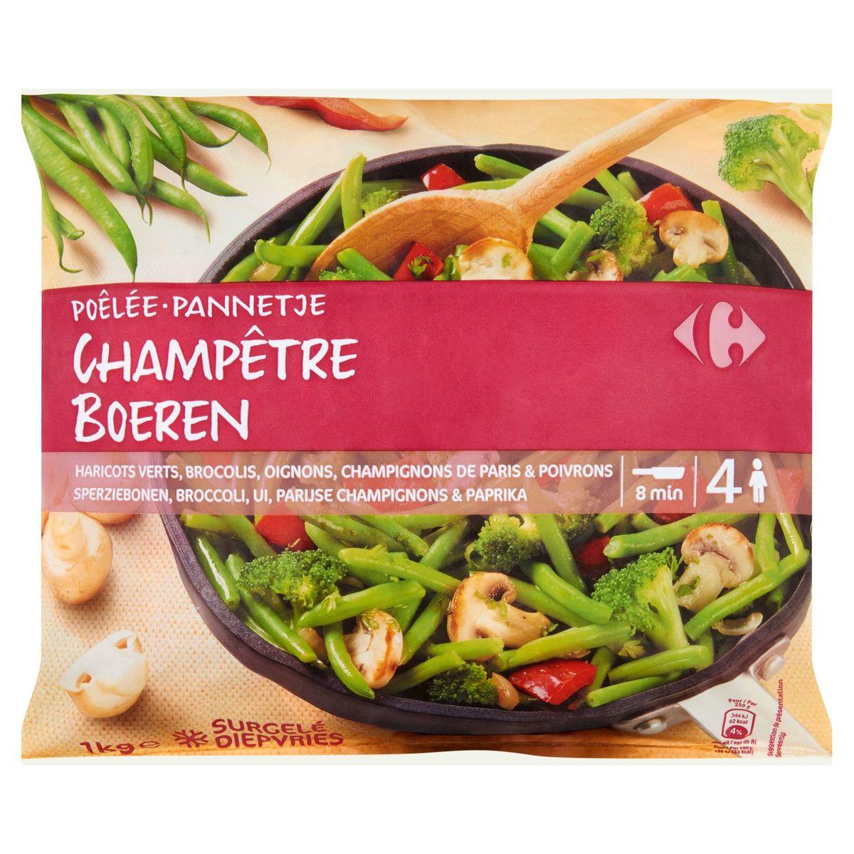 Carrefour Sperziebonen, Broccoli, Parijse Champignons & Paprika 1 kg