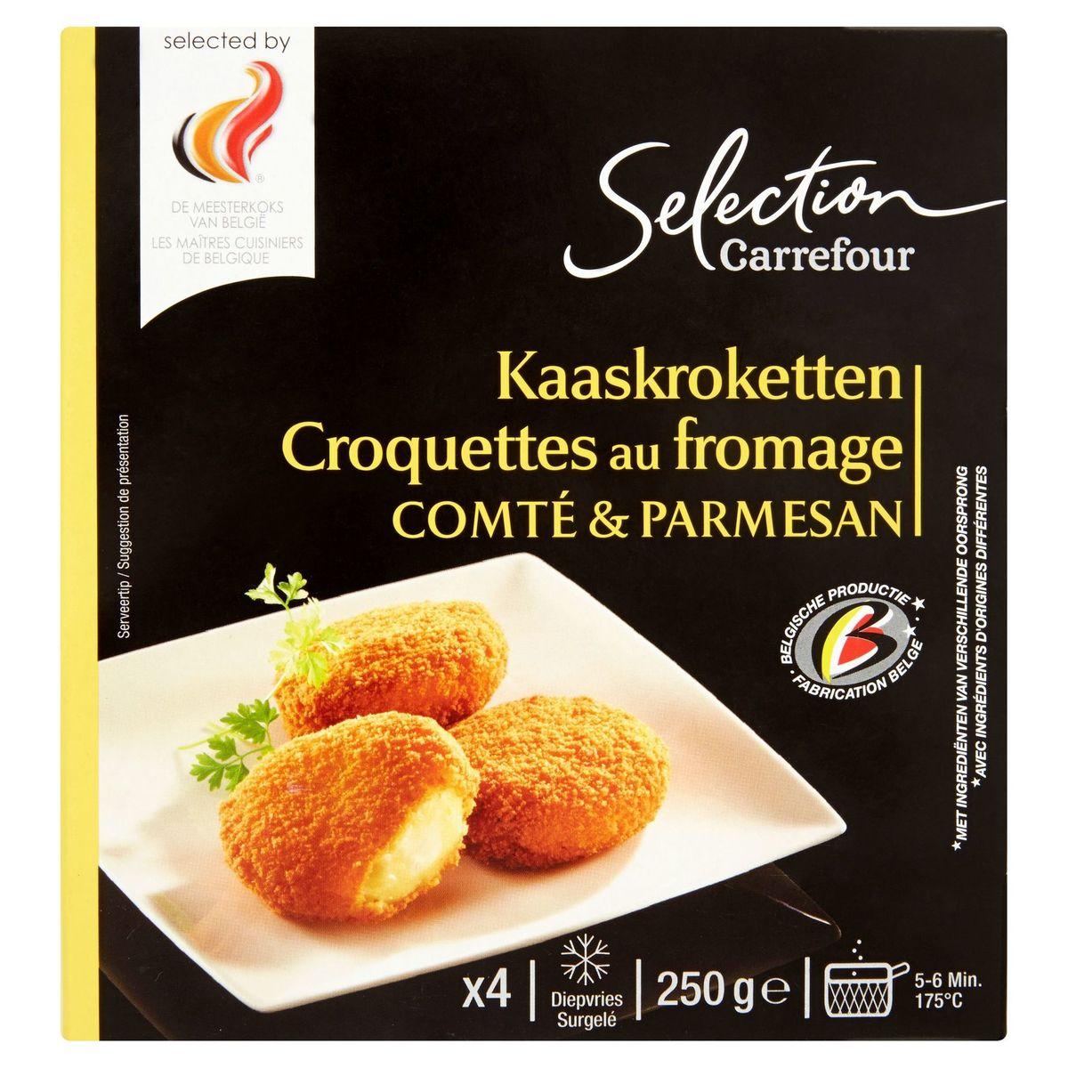Carrefour Selection 4 Kaaskroketten Comté & Parmesan 250 g