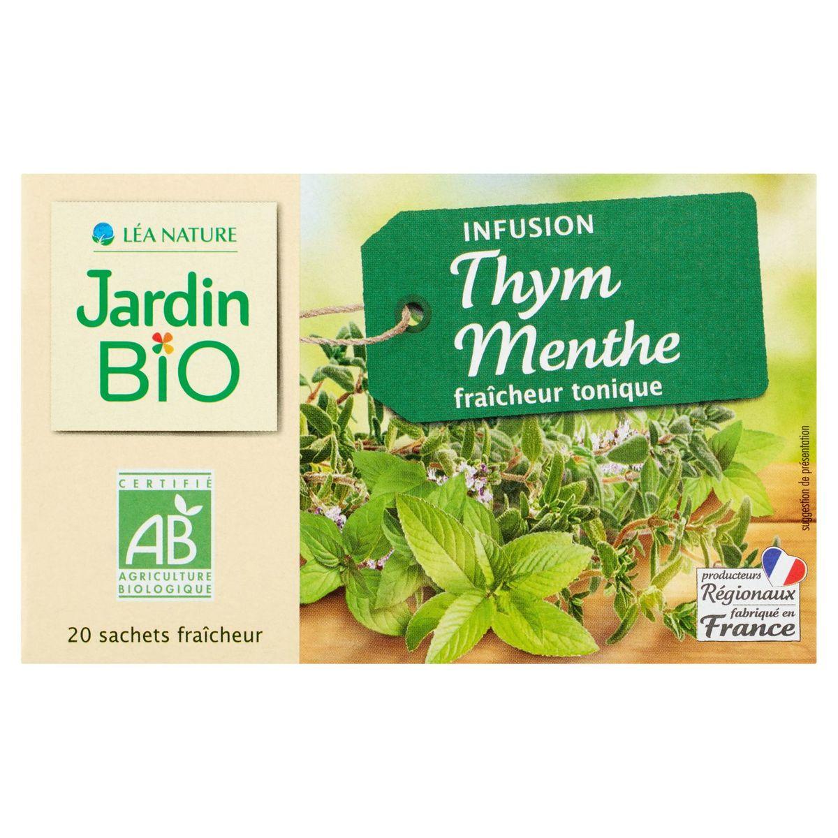 Jardin BiO ētic Infusion Thym Menthe Fraîcheur Tonique 30 g