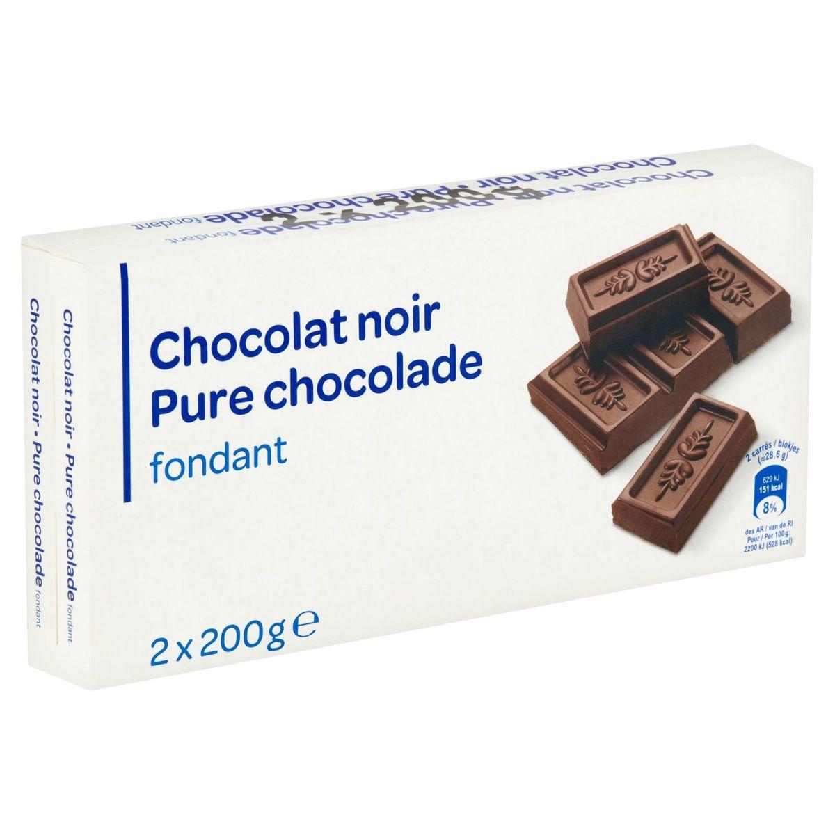 Carrefour Pure Chocolade Fondant 2 x 200 g