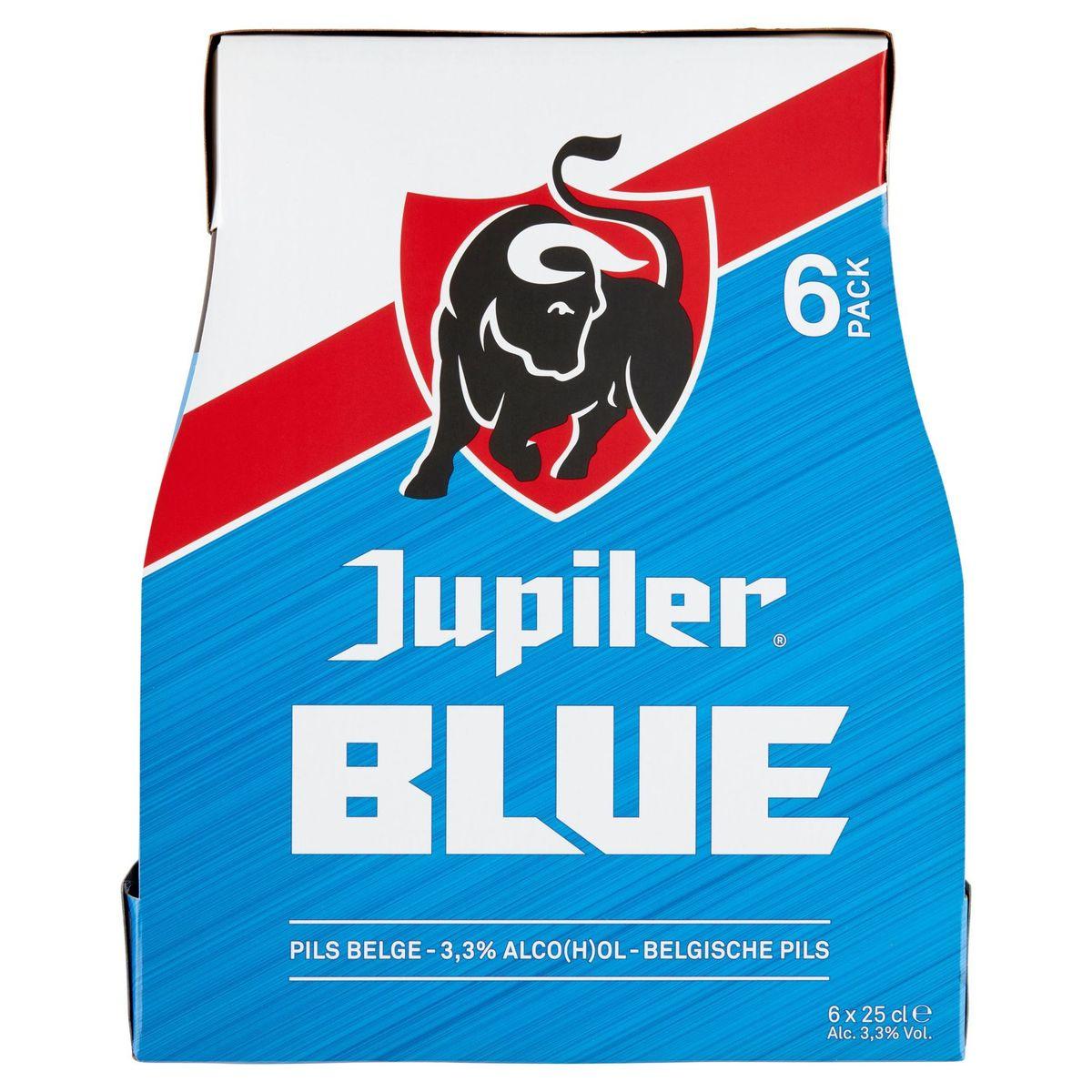 Jupiler Blue Blond Bier Flessen 6 x 25 cl