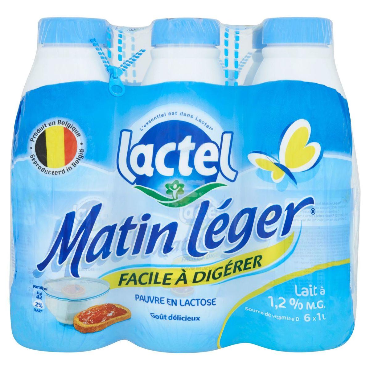 Lactel Matin Léger Lait à 1.2% M.G. 6 x 1 L
