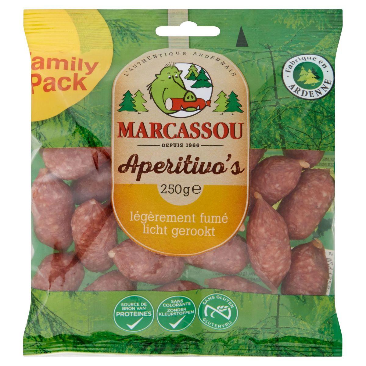 Marcassou Aperitivo's Légèrement Fumé Family Pack 250 g