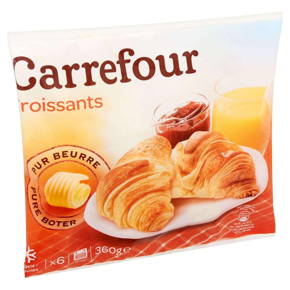 Carrefour 6 Croissants 360 g