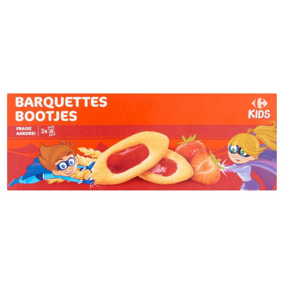 Carrefour Kids Barquettes Fraise 3 x 6 Sachets 120 g