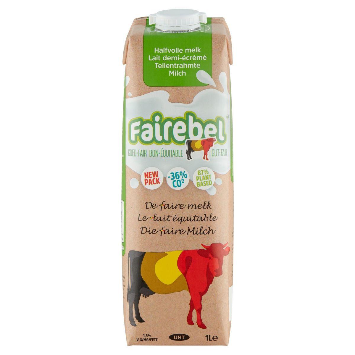Fairebel Lait Demi-Écremé 1 L