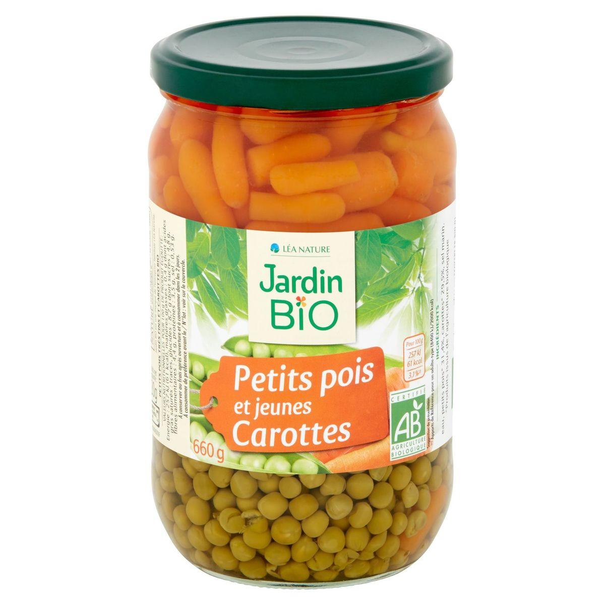Jardin BiO ētic Petits Pois et Jeunes Carottes 660 g