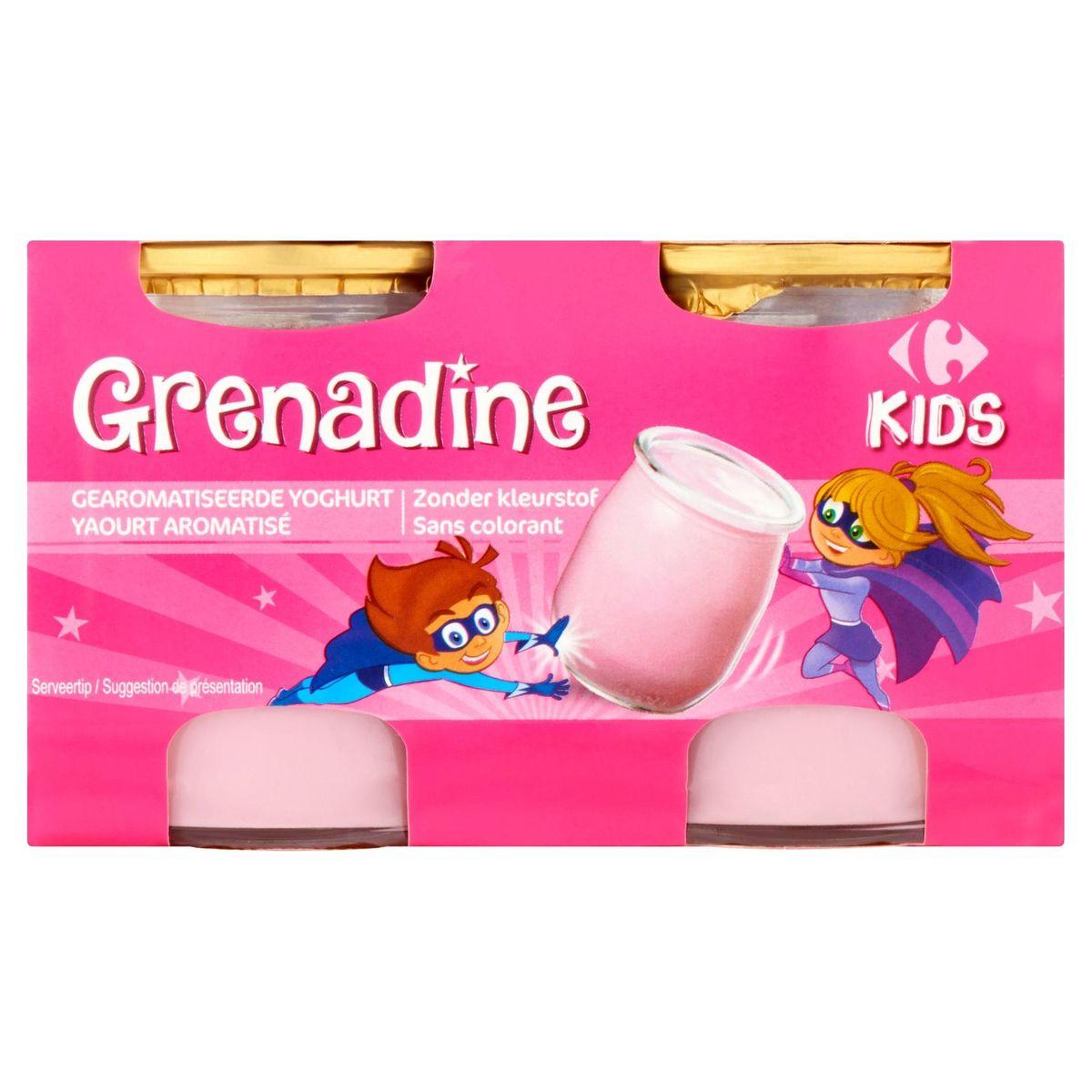 Carrefour Kids Grenadine Yaourt Aromatisé 4 x 125 g