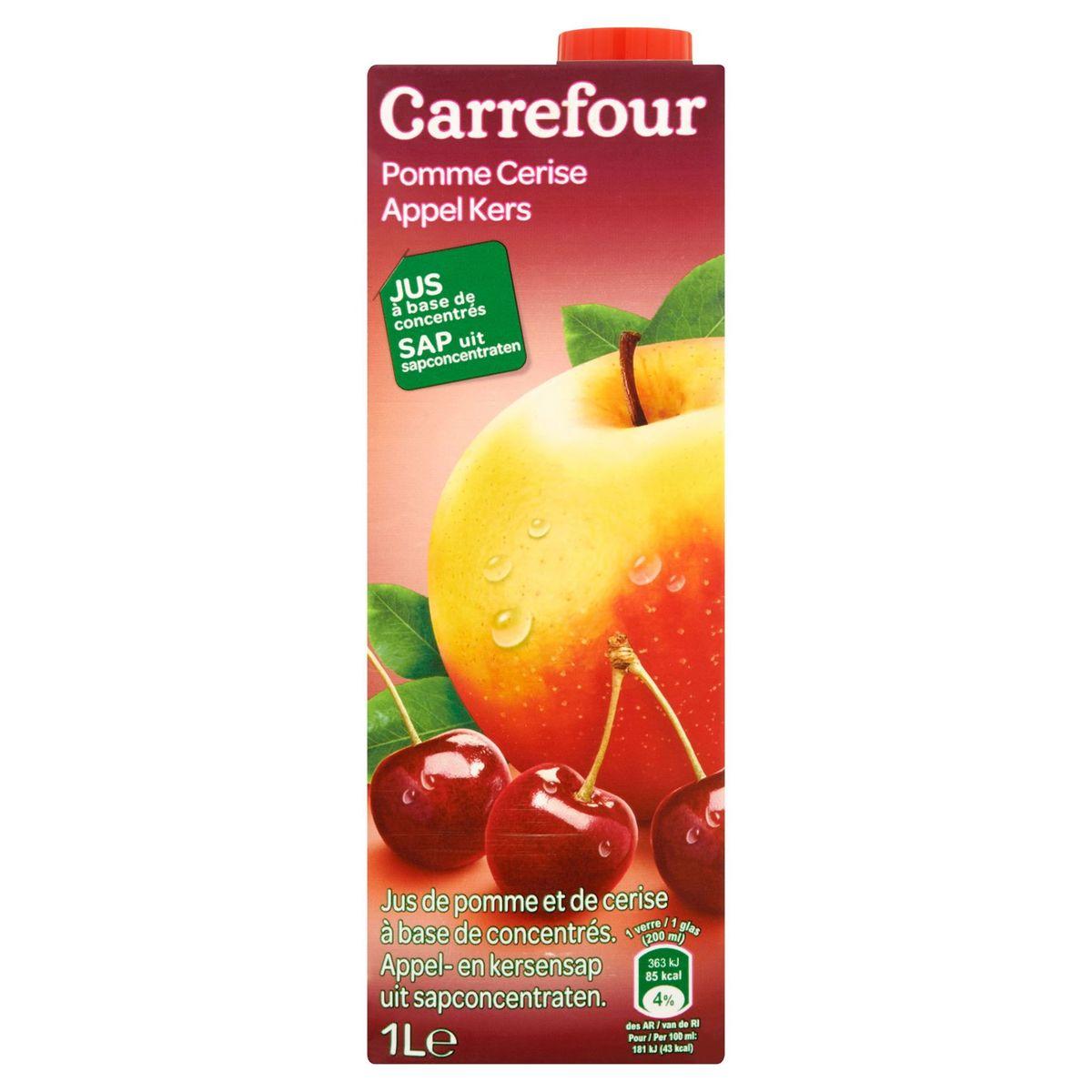 Carrefour Pomme Cerise Jus à Base de Concentrés 1 L