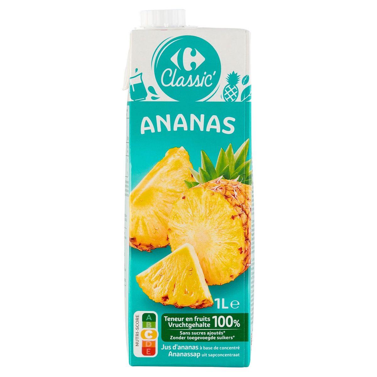Carrefour Jus d'Ananas à Base de Concentré 1 L