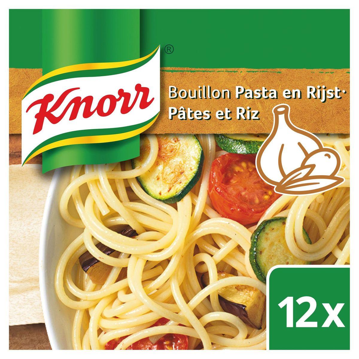 Knorr Finesse Bouillon Pâtes et Riz 12 Cubes 120 g