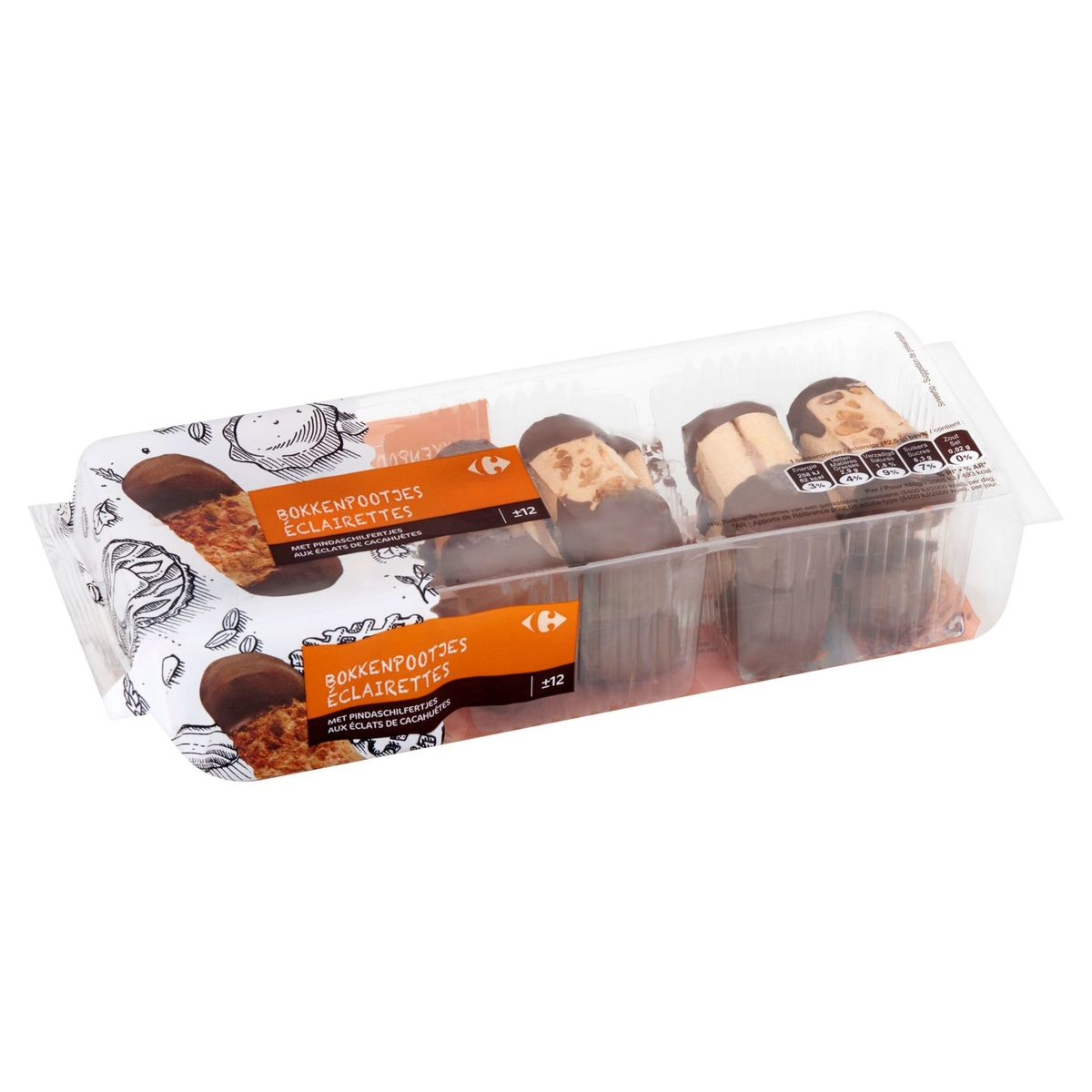 Carrefour Éclairettes aux Éclats de Cacahuètes 150 g