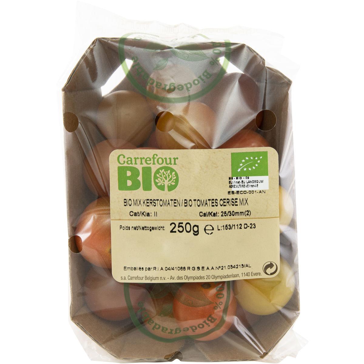 Carrefour BIO Kerstomaten Mix 250 g