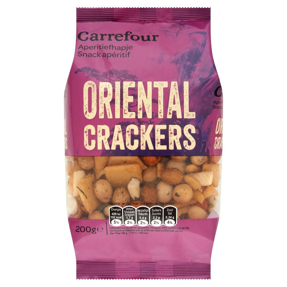 Carrefour Snack Apéritif Oriental Crackers 200 g