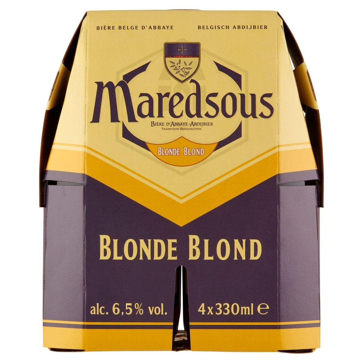 Maredsous Belgisch Abdijbier Blond 4 x 330 ml