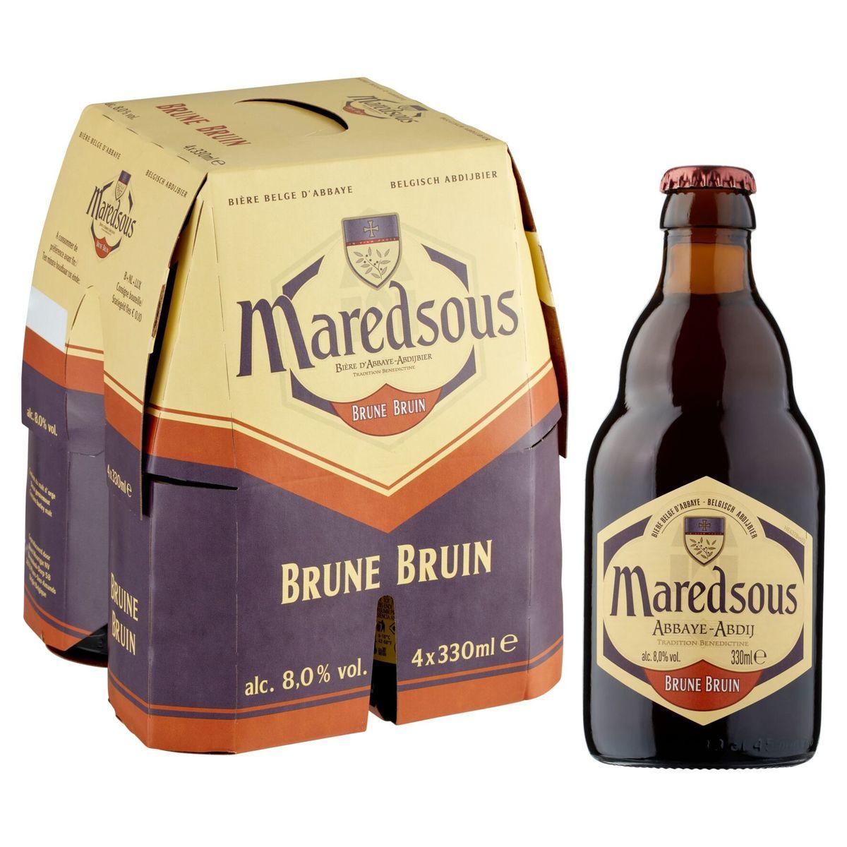 Maredsous Belgisch Abdijbier Bruin Flessen 4 x 330 ml