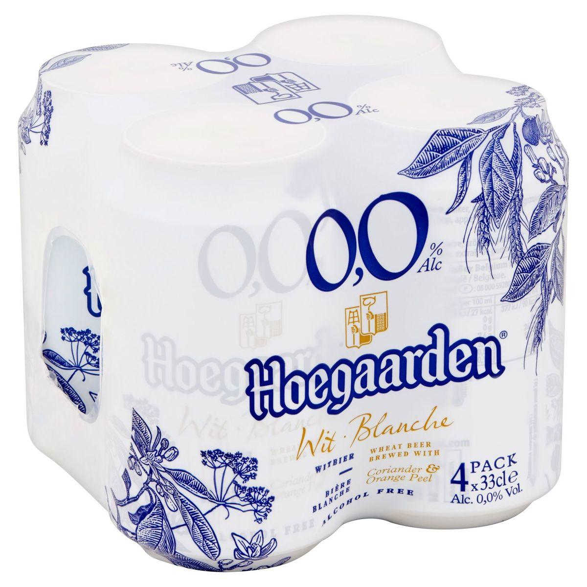 Hoegaarden Wit 0.0% Alc Blikken 4 x 33 cl