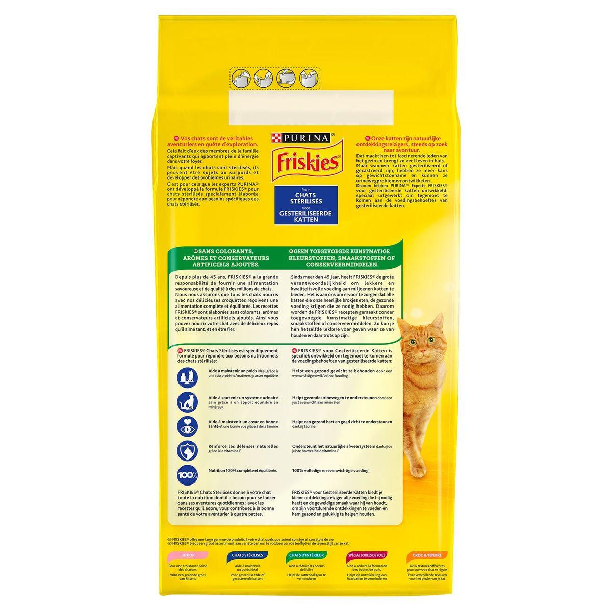 FRISKIES Kattenvoer Sterilised Zalm en Groenten 4 kg