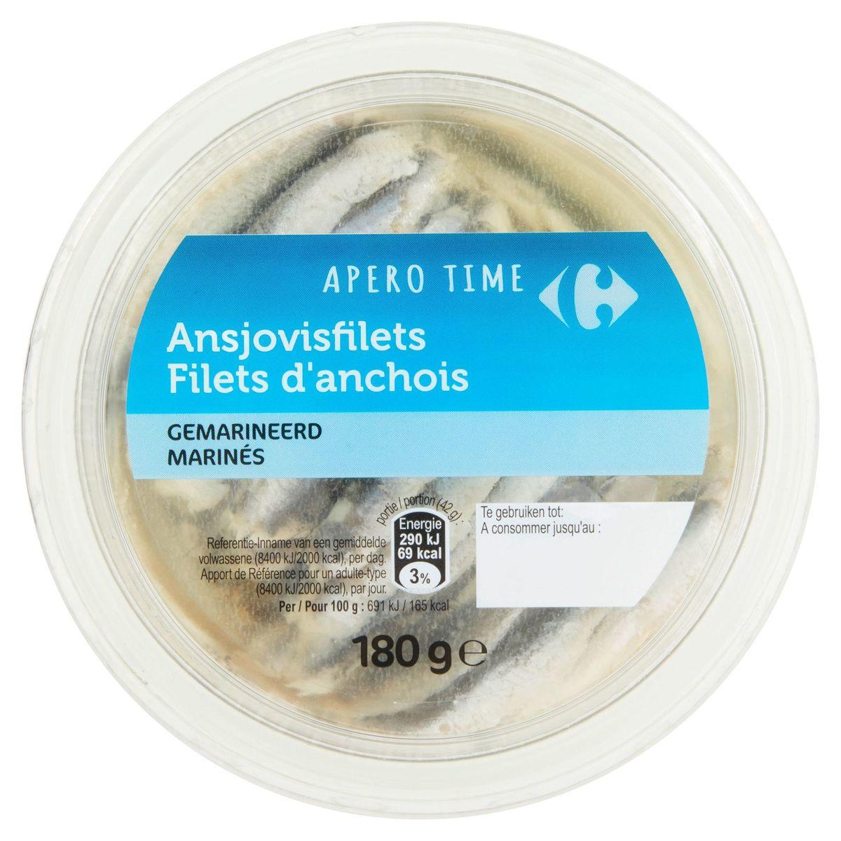 Carrefour Apero Time Filets d'Anchois Marinés 180 g