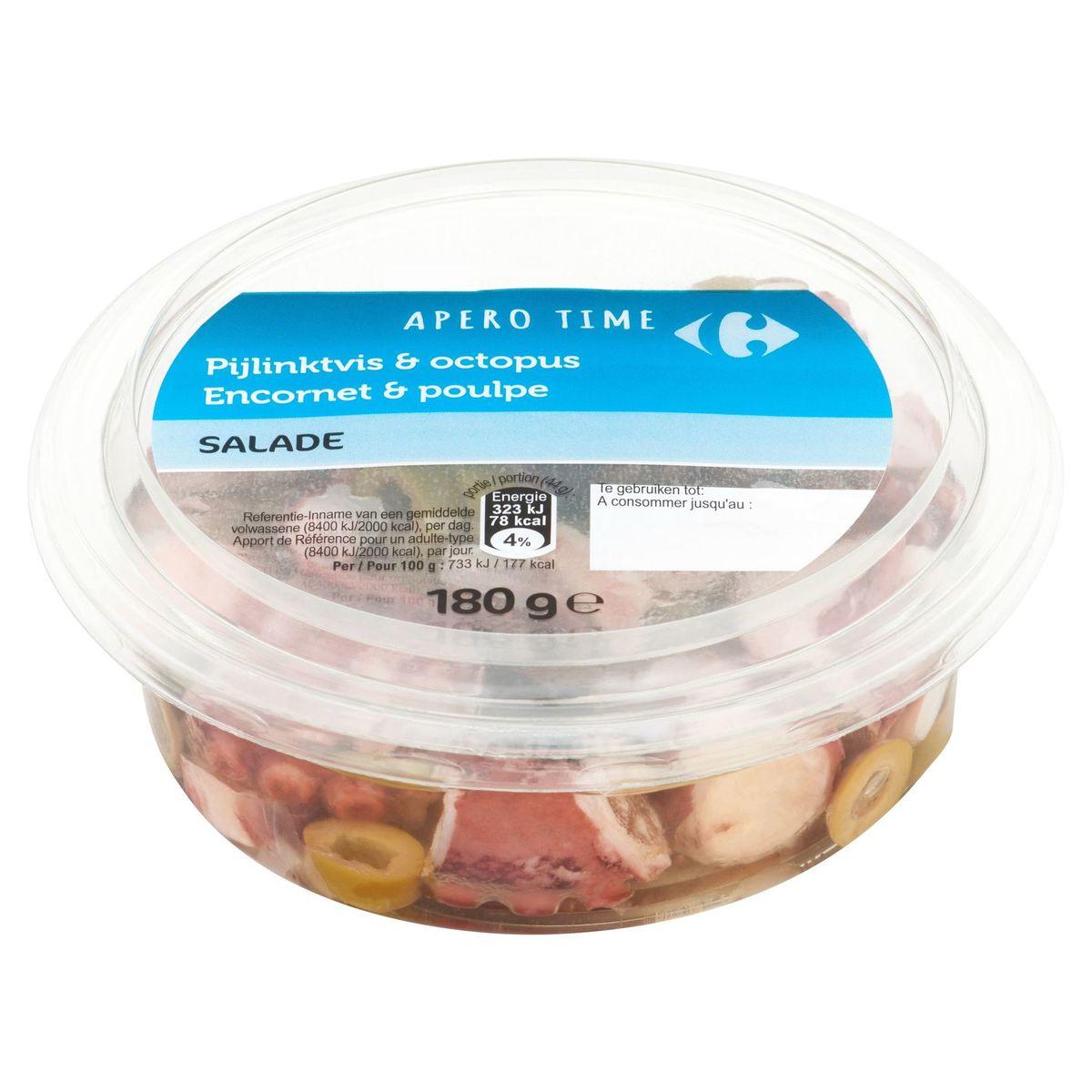 Carrefour Apero Time Encornet & Poulpe Salade 180 g