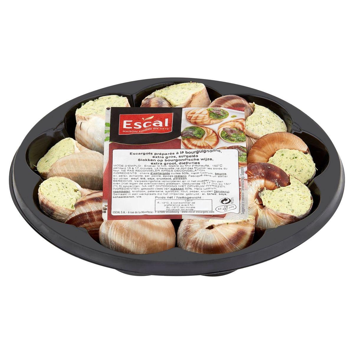Escal Slakken op Bourgondische Wijze Diepvries 12 Stuks 115 g