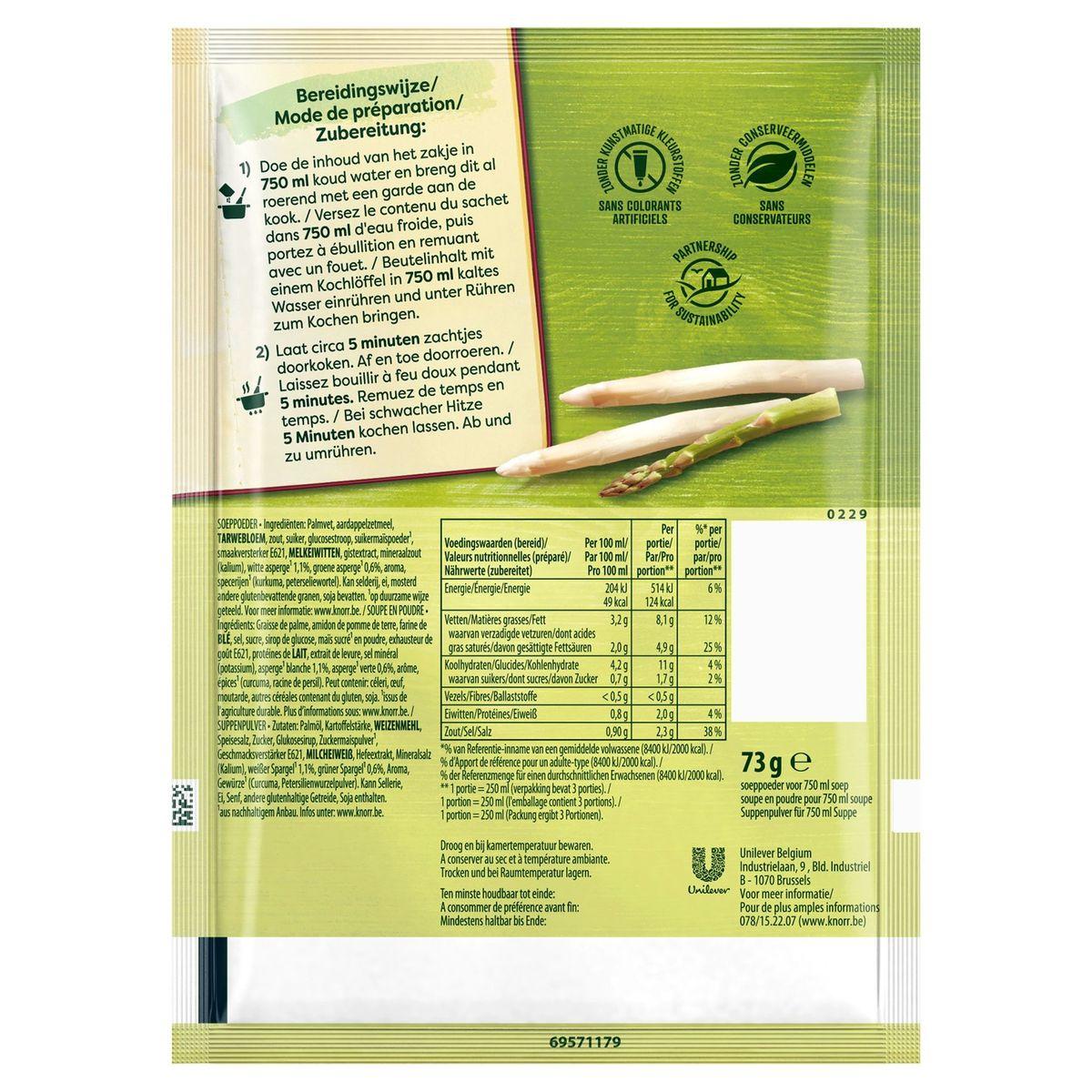 Knorr Finesse Droge Soep Asperge en Room 73 g