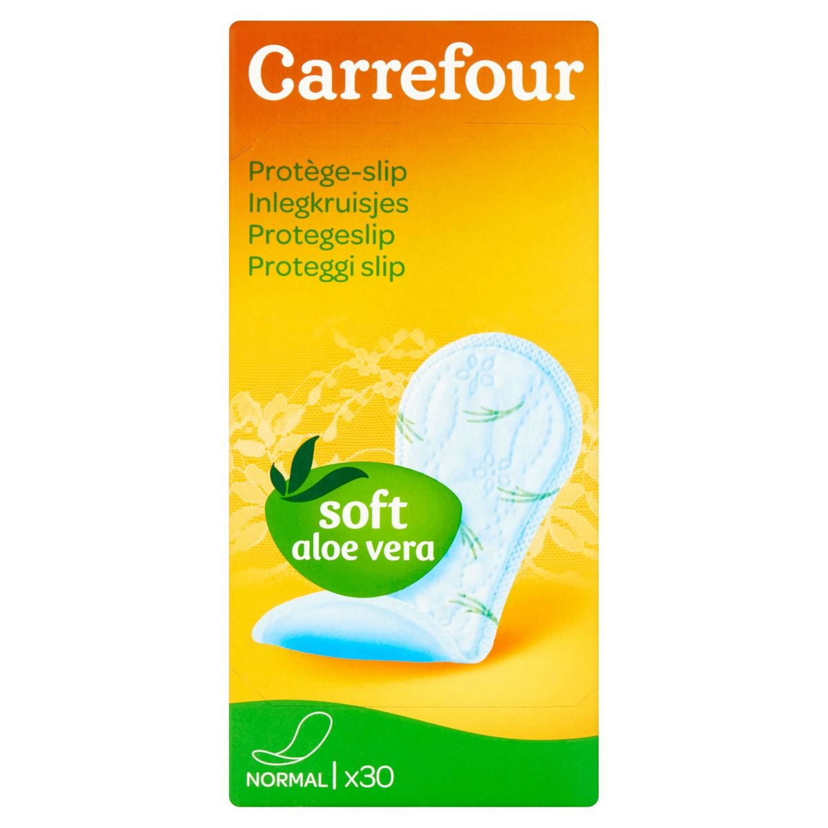 Carrefour Inlegkruisjes Soft Aloe Vera Normal 30 Stuks