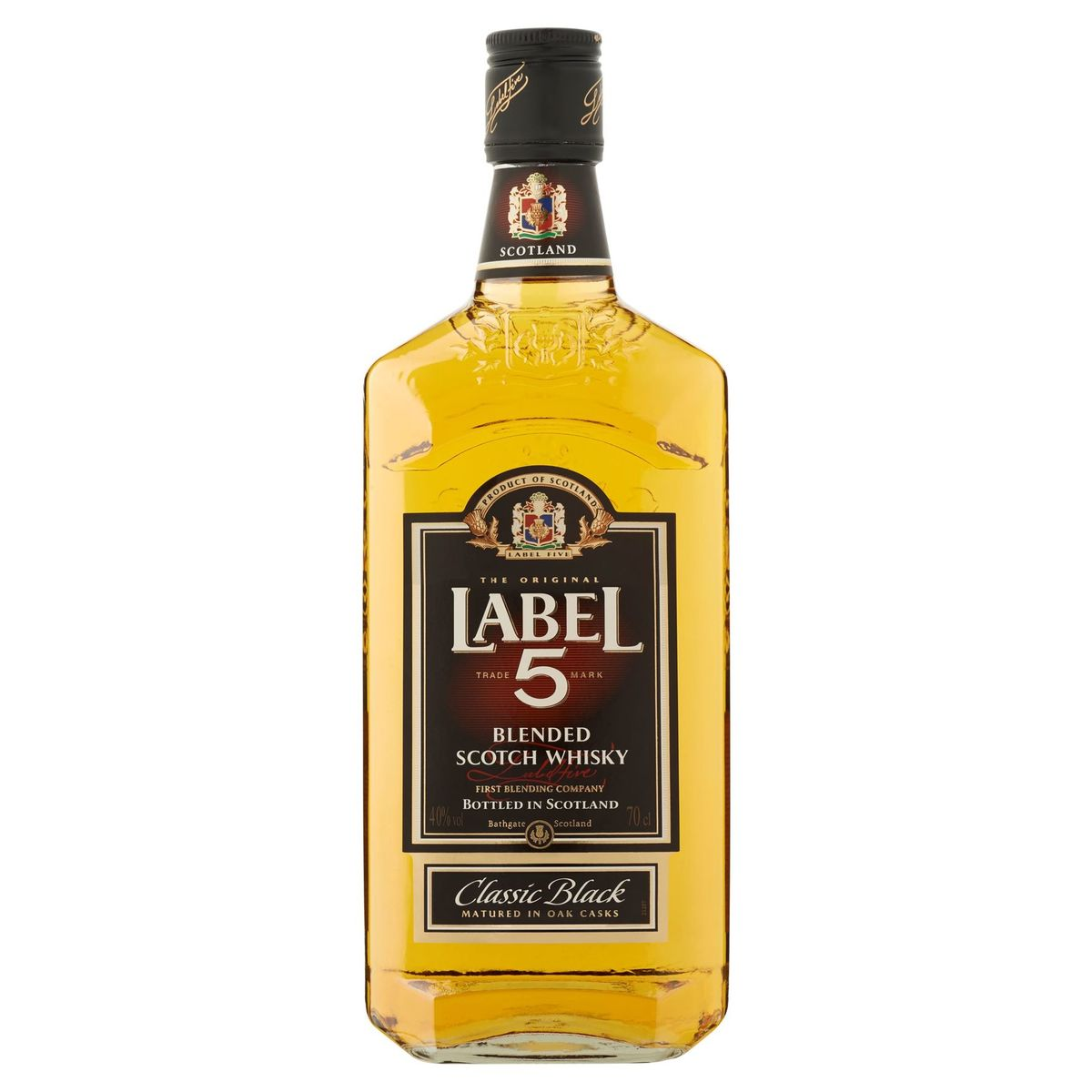 Label 5 Blended Scotch Whisky Classic Black 70 cl
