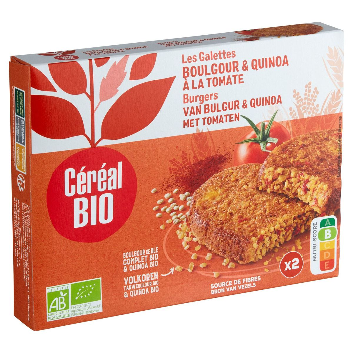 Céréal Bio Galettes Boulghour & Quinoa à la Tomate 2 x 100 g