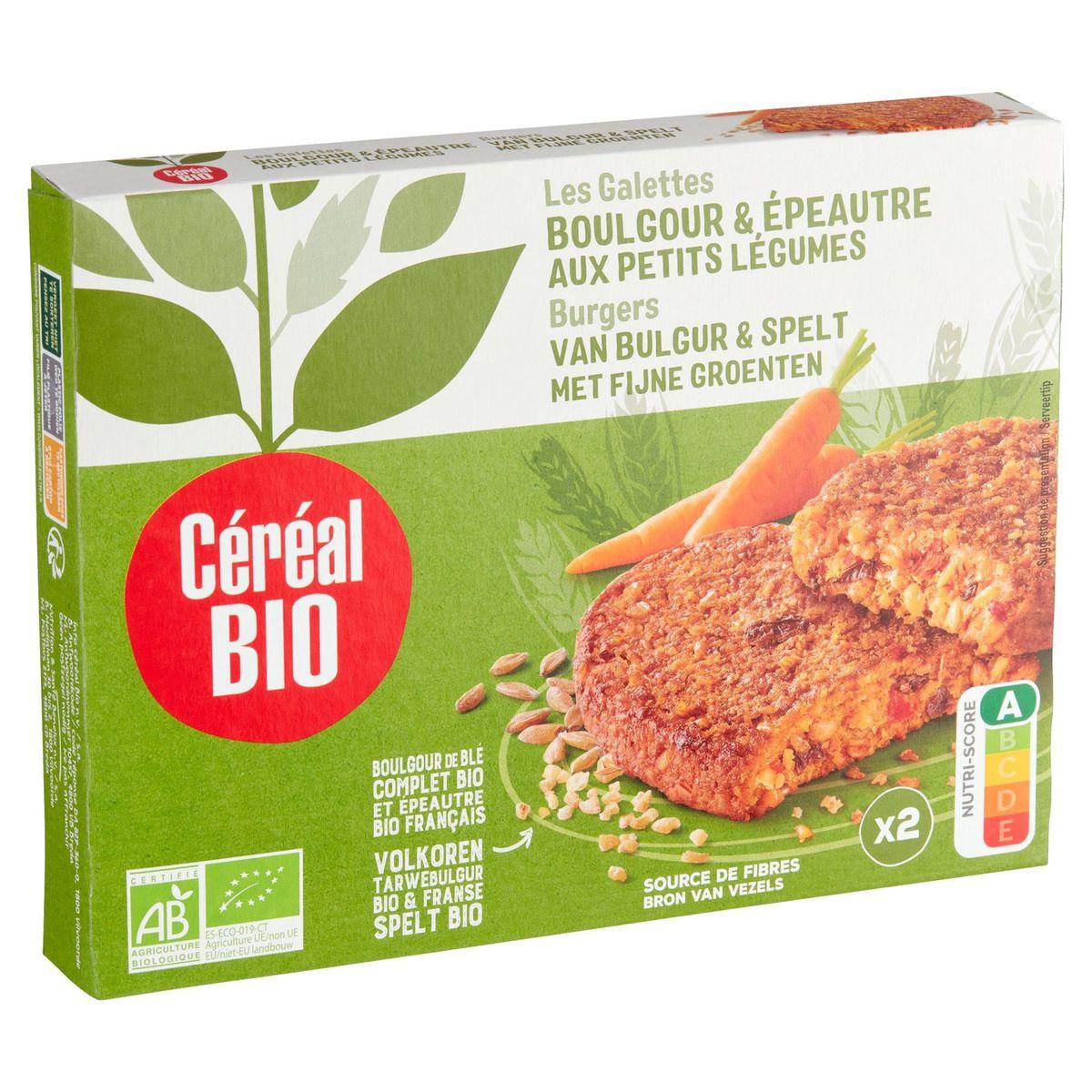 Céréal Bio Galettes Boulghour & Épeautre aux Petits Légumes 2 x 100 g