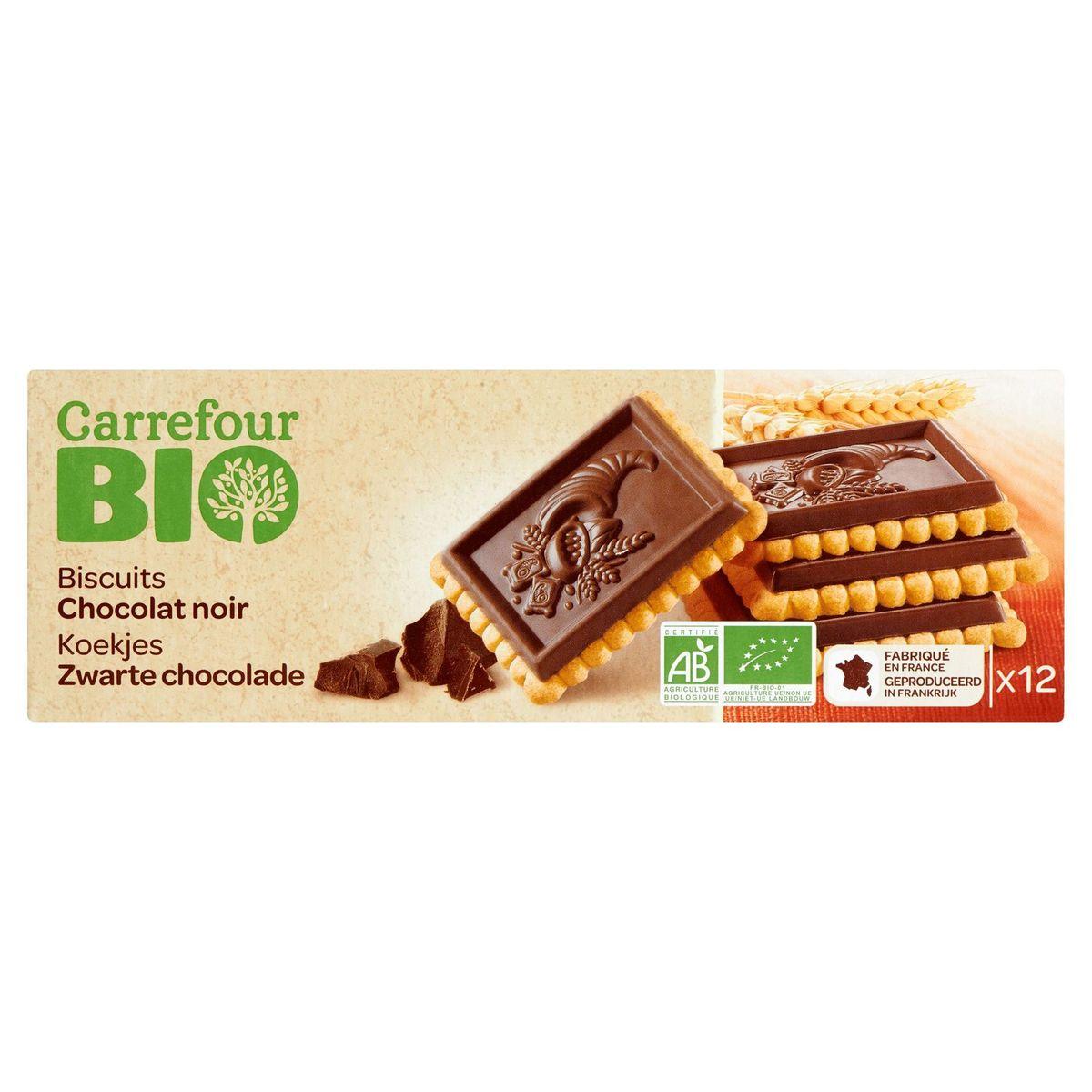 Carrefour Bio Biscuits Chocolat Noir 12 Pièces 150 g