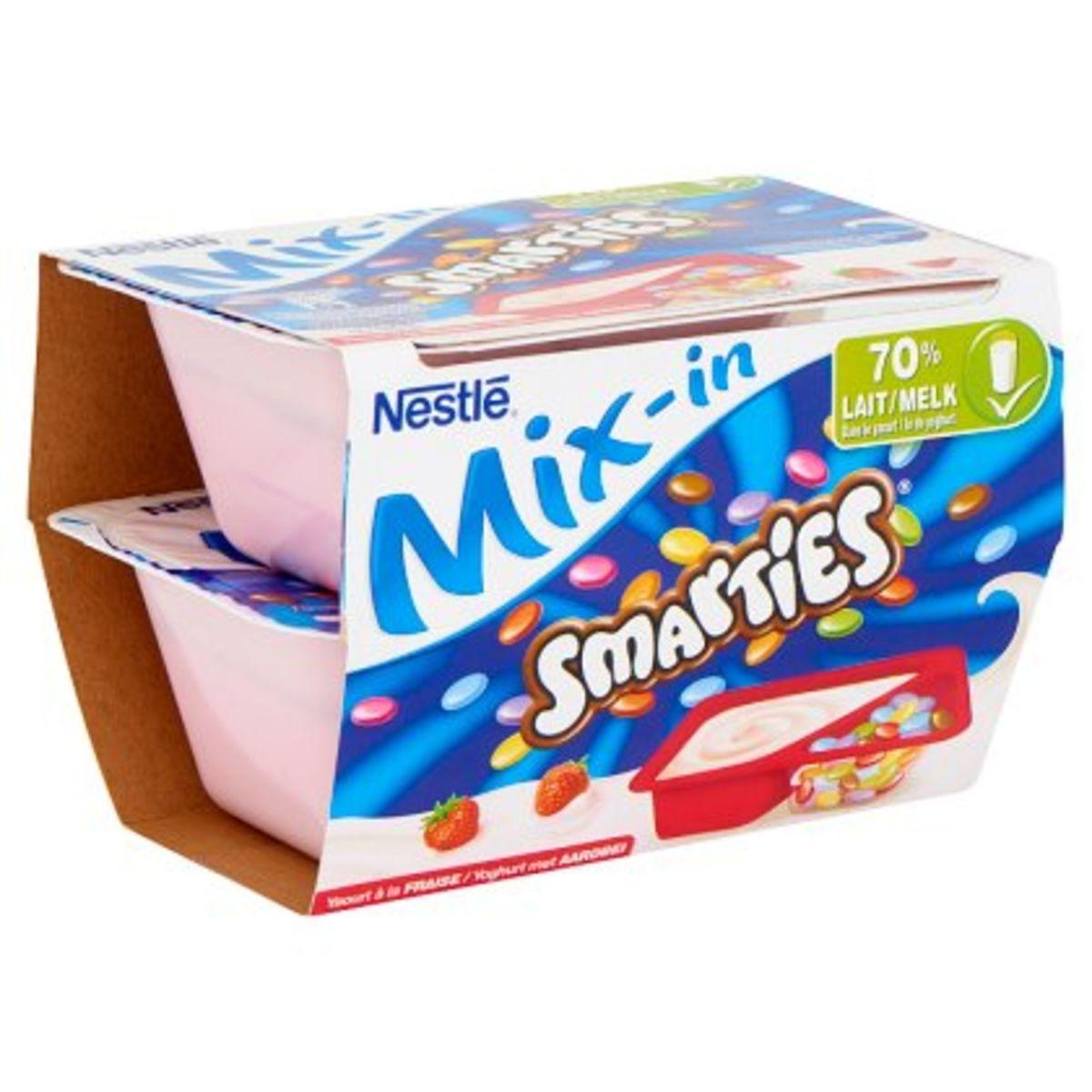 Nestlé Smarties Mix-in Yaourt à la Fraise 2 x 120 g