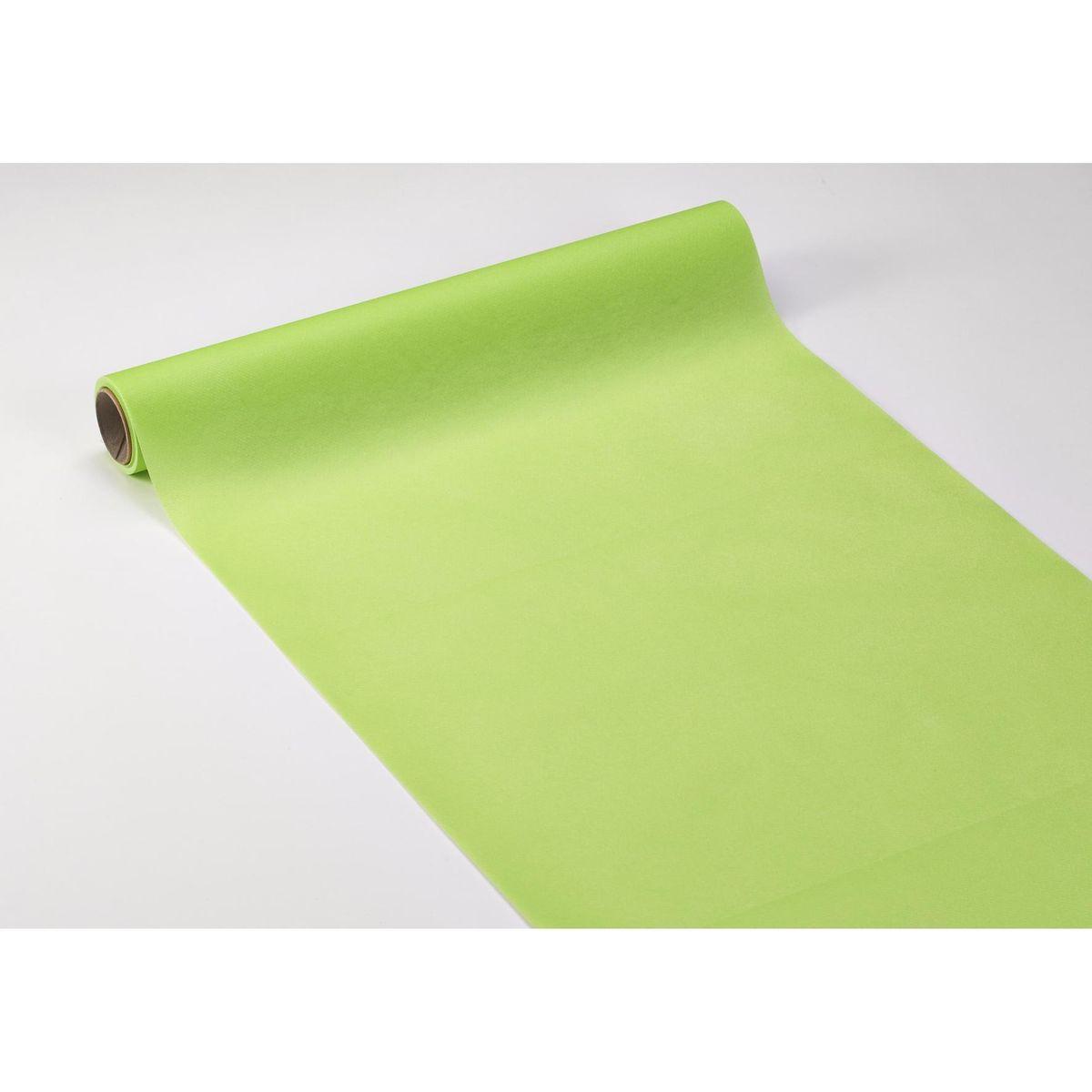 Carrefour Home Chemin de table en papier 40cm x 4,80m Anis