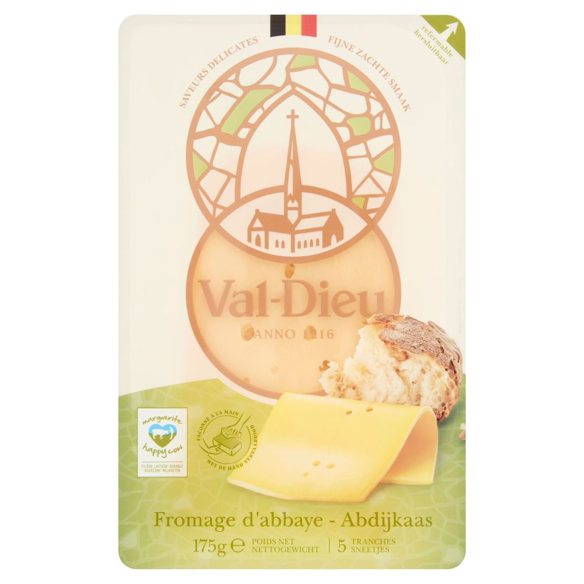 Val-Dieu Fromage d'Abbaye 5 Tranches 175 g