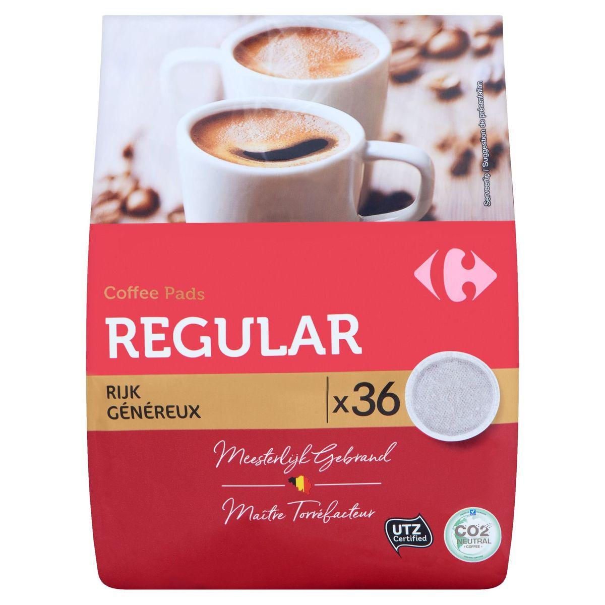 Carrefour Coffee Pads Regular Généreux 36 x 7 g