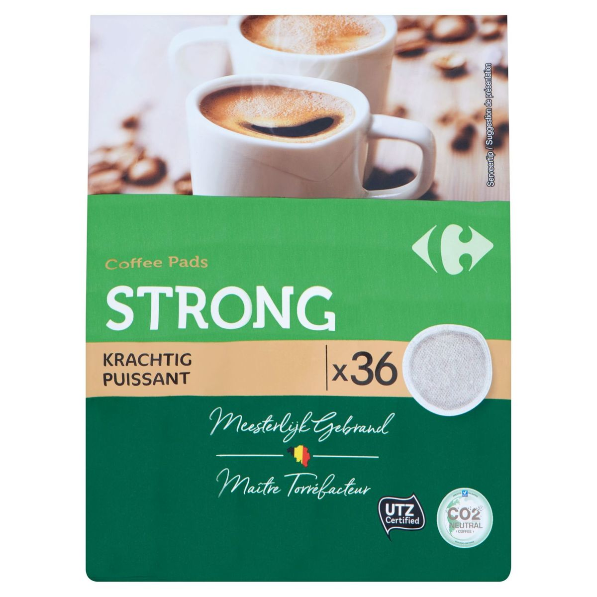 Carrefour Coffee Pads Strong Puissant 36 x 7 g