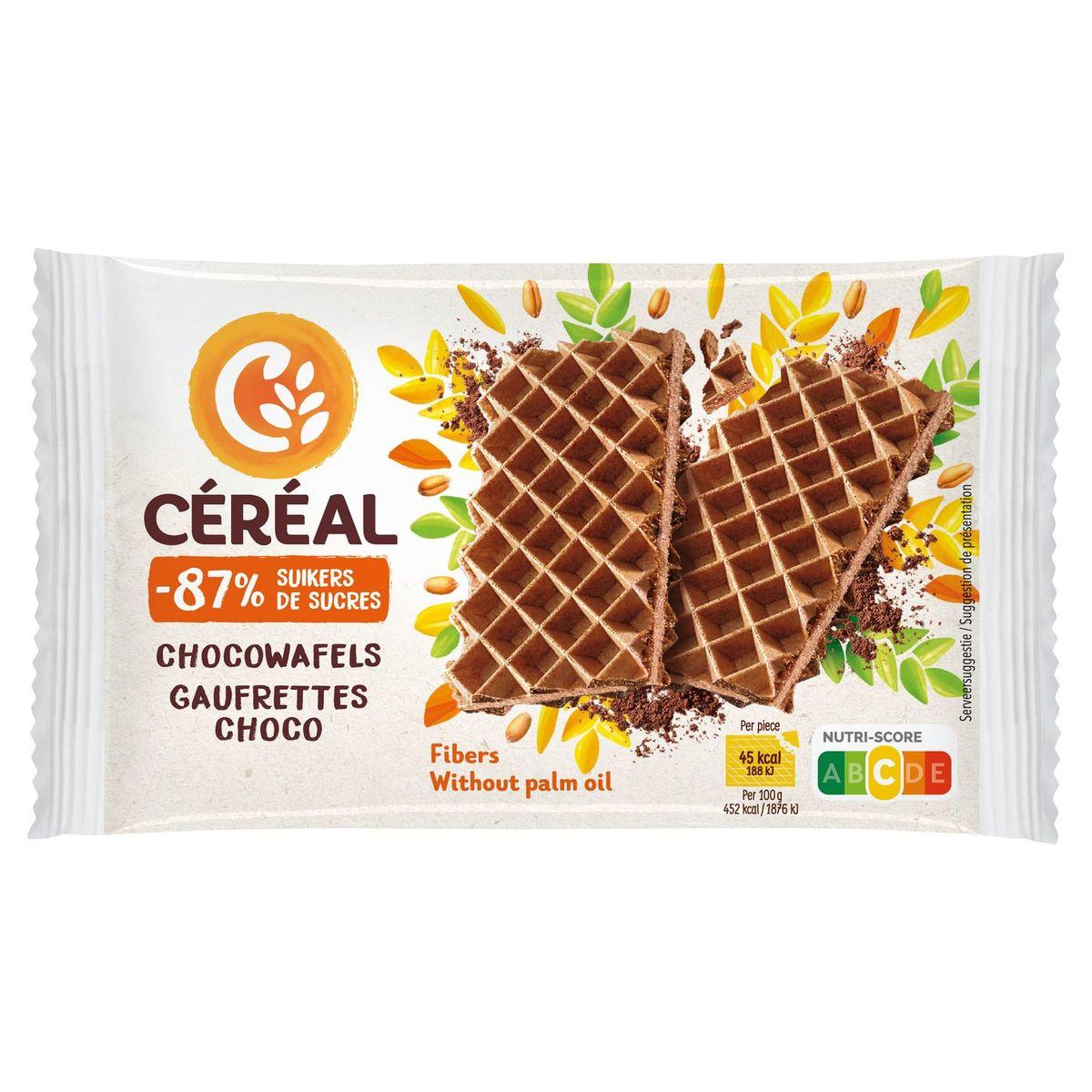 Céréal Moins de Sucres Gaufrettes Choco 9 x 10 g
