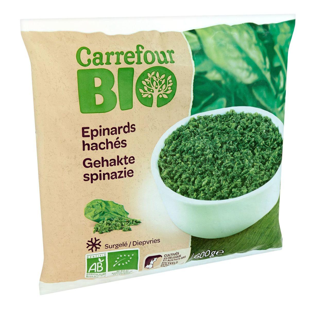 Carrefour Bio Gehakte Spinazie 600 g
