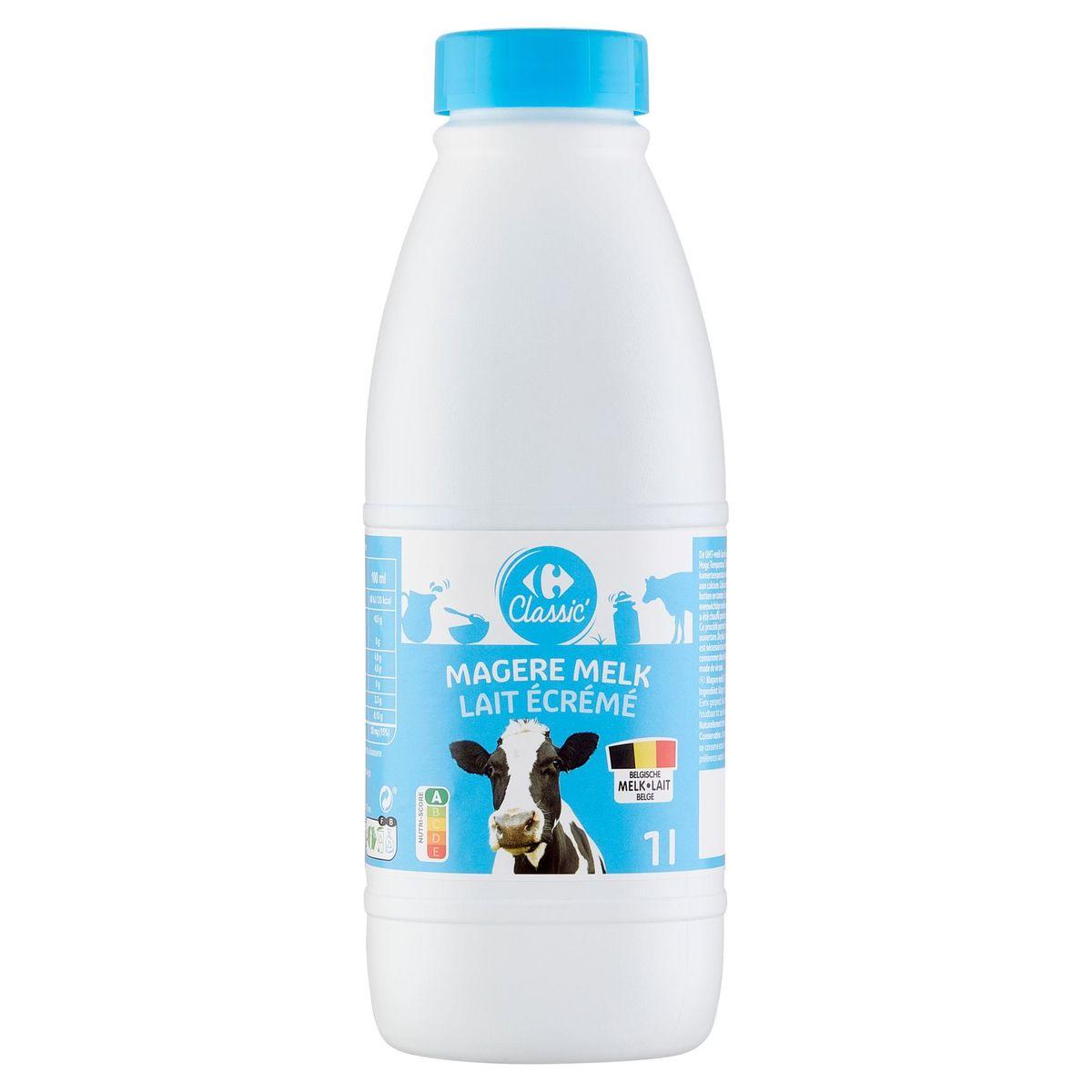 Carrefour Lait Ecrémé 1 L