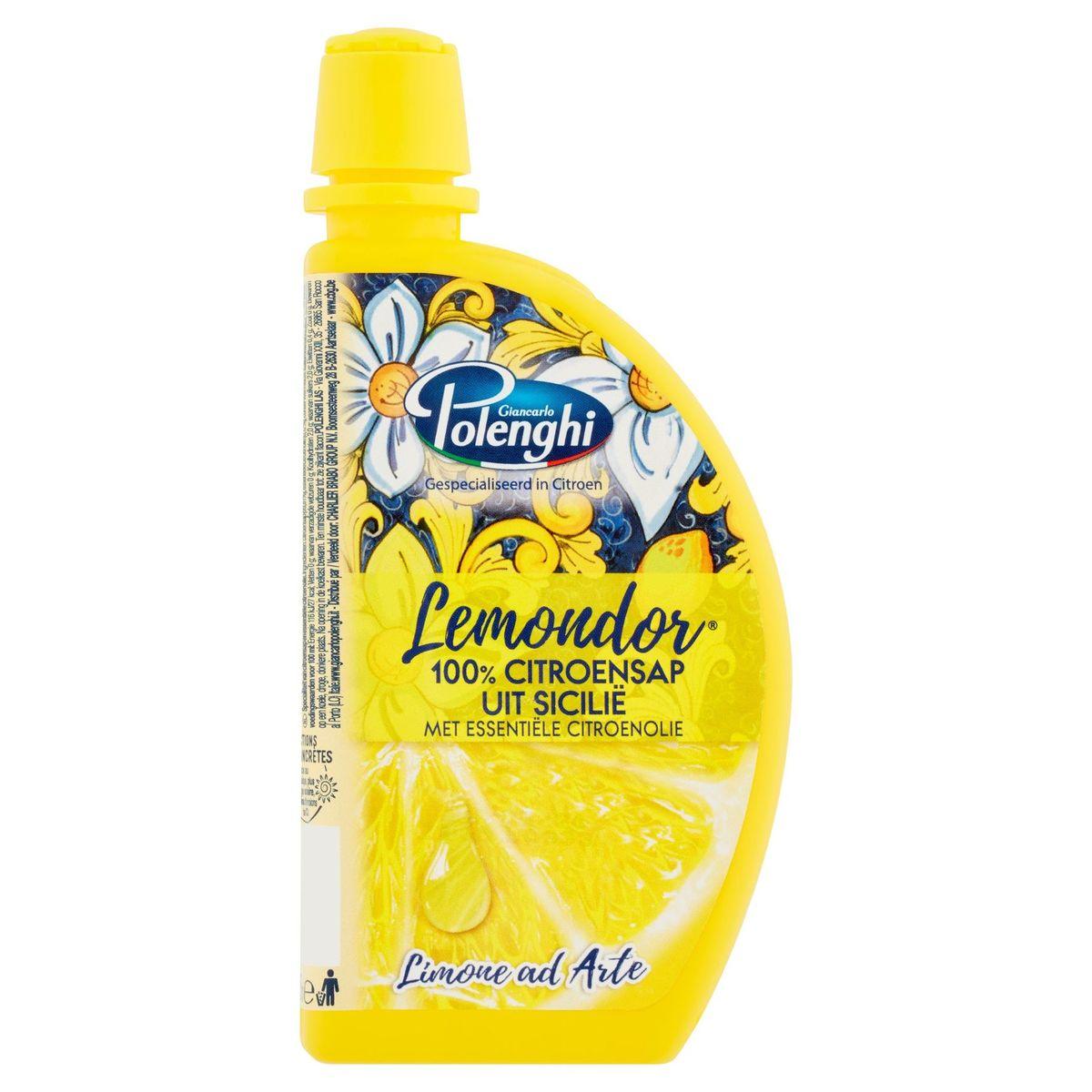Lemondor 100% Citroensap uit Sicilië met Essentiële Citroenolie 125 ml