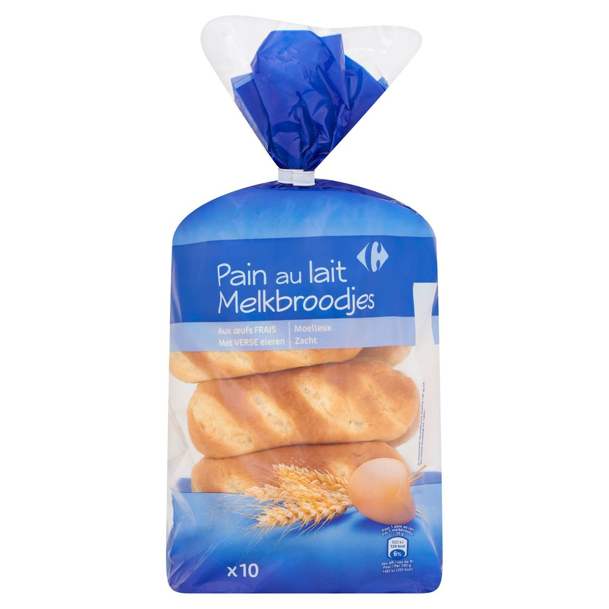Carrefour Melkbroodjes 10 x 35 g
