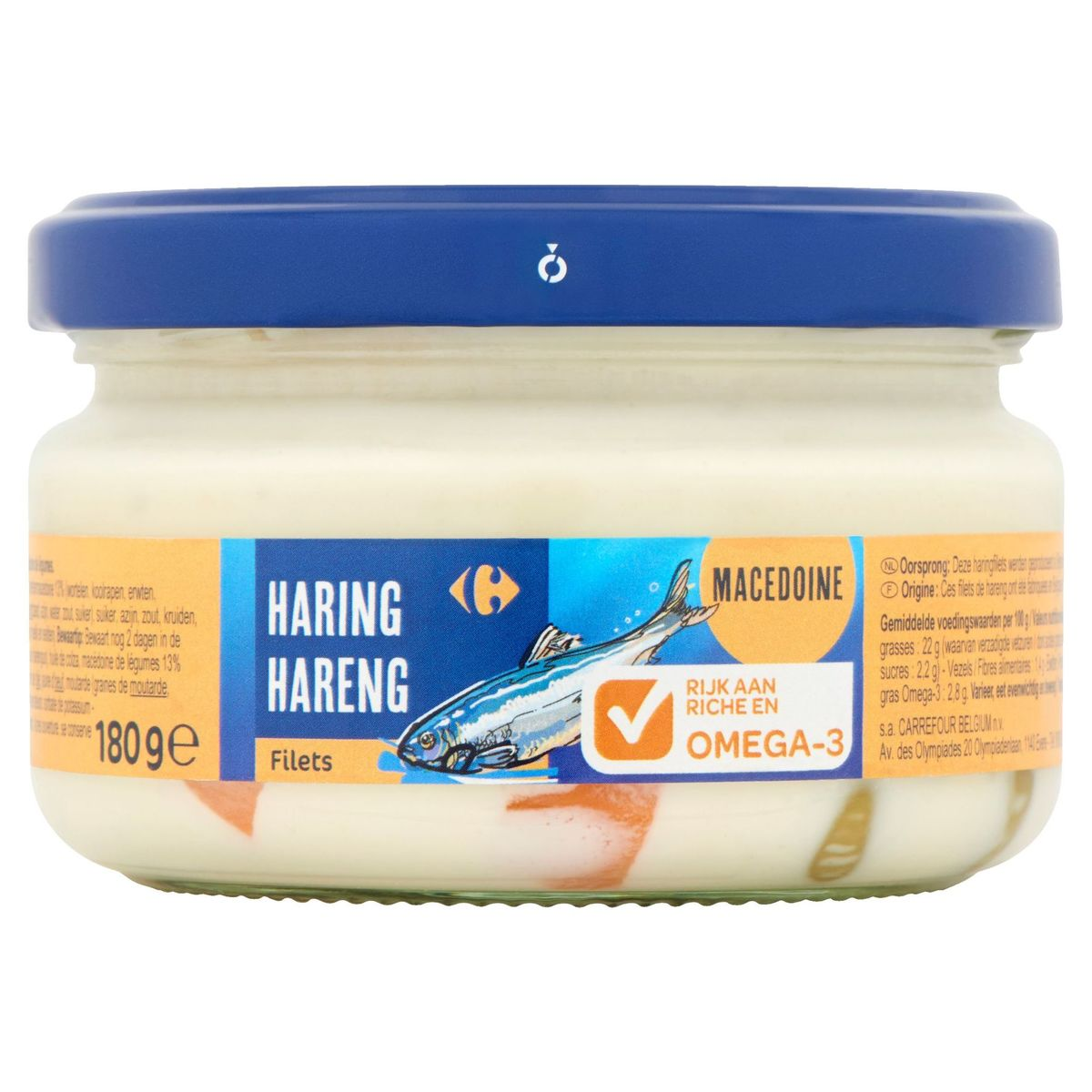 Carrefour Hareng Filets Macedoine 180 g