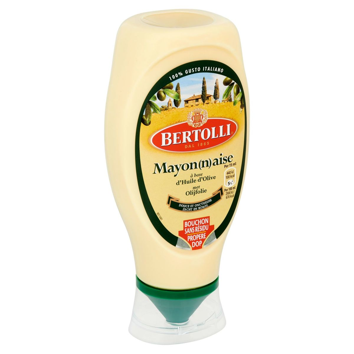 Bertolli Mayonnaise à Base d'Huile d'Olive 430 ml